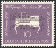 Germany 1956 Mozart/ Composers/ Piano/ Music/ Musical Score/  Instruments/ People 1v (n43465)