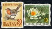 Germany 1957 Birds  /  Flower  /  Nature  /  Conservation 2v n29608
