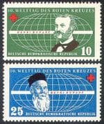Germany 1957 Red Cross/ Medical/ Henri Dunant/ People/ Welfare 2v set (n27758)