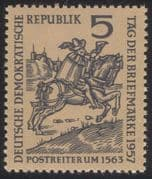 Germany 1957 Stamp Day/ Post Rider/ Courier/ Mail/ Horse/ Animals/ Transport/ Animation 1v (n44582)