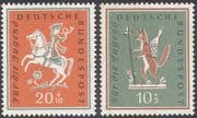 Germany 1958 Horse/ Rider/ Fox/T ales/ Students Fund/ Animals/ Transport 2v set (n27887)