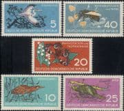 Germany 1959  Bee/ Heron/ Beaver/ Animals/ Birds/ Insects/ Nature Protection  5v set  (n46410)