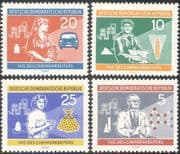 Germany 1960 Chemical Workers/ Oil/ Cars/ Science/ Farming/ Dress/ Transport/ Farming 4v set (n43622)