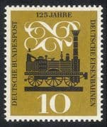 Germany 1960 German Railway 125th Anniversary/ Rail/ Railways/ Trains/ Steam Engine/ Locomotive/ Transport 1v (n28324)