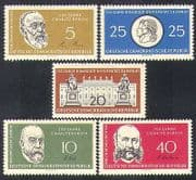 Germany 1960 Humboldt University  /  Koch  /  People  /  Medical  /  Buildings 5v set (n37831)