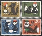Germany 1960 Red Riding Hood  /  Fairy Story  /  Tales  /  Wolf  /  Animals  /  Nature 4v set n27885