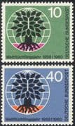 Germany 1960 WRY/ Refugees/ Tree/ Welfare/ People/ Animation 2v set (n28329)