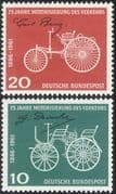 Germany 1961 Daimler-Benz/ Cars/ Transport/ Motoring/ Motors/ Engineering/ People 2v set (n28325)