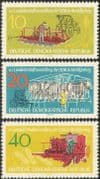 Germany 1962 Cattle/ Tractor/ Farming/ Crops/ Animals/ Nature/ Transport 3v set (n43592)