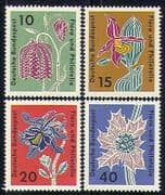 Germany 1963 Flowers/ Orchids/ Lily/ Plants/ Nature/ Animation 4v set (n29597)