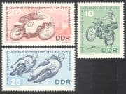 Germany 1963 Motorcycles  /  Motor  /  Bikes  /  Racing  /  Sports  /  Transport 3v set (n25308)