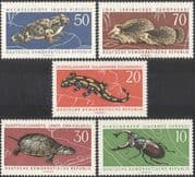 Germany 1963 Nature Protection/ Hedgehog/ Toad/ Tortoise/ Beetle/ Animals/ Nature/ Wildlife/ Conservation 5v set (b467)