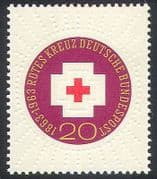Germany 1963 Red Cross  /  Medical  /  Health  /  Emboss 1v  n27766