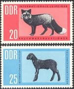 Germany 1963 Red Fox/ Caracul Lamb/ Fur/ Animals/ Nature/ Clothes/ Industry/ Commerce 2v set (n43929)
