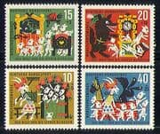 Germany 1963 Tales  /  Goats  /  Nature  /  Welfare 4v set (n29600)