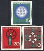Germany 1964 Science  /  Nuclear  /  Engine  /  Chemistry  /  Industry 3v set (n29609)