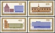 Germany 1965 Leipzig 800th Anniversary/ Town Hall/ Clock Tower/ Opera House/ Buildings/ Architecture 4v set (n43607)