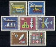 Germany 1965 Transport  /  Train  /  Bus  /  Plane  /  Ship 7v (n27934)