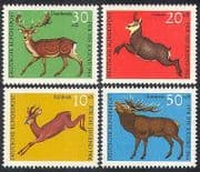 Germany 1966 Deer  /  Animals  /  Wildlife  /  Animation 4v  n29601