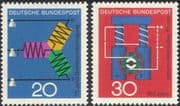 Germany 1966 Dynamo/ Electric Current/ Electricity/ Science/ Physics 2v set (n29611)