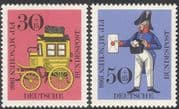 Germany 1966 Postman/ Mailcoach/ Coach/ Mail/ Post/ Postal Transport/ Animation 2v set (n25269)