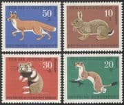 Germany 1967 Welfare Fund/ Fox/ Rabbit/ Hamster/ Stoat/ Animals/ Nature/ Wildlife 4v set (n29605)