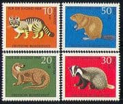 Germany 1968 Badger/ Beaver/ Otter/ Wild Cat/ Animals/ Nature/ Wildlife 4v set (n29603)