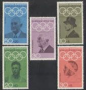 Germany 1968 Olympic Games  /  Olympics  /  Sports  /  People  /  Coubertin 5v set (n35405)