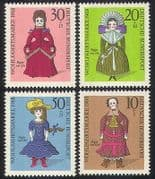 Germany 1968 Welfare  /  Health  /  Dolls  /  Toys 4v set (n28323)