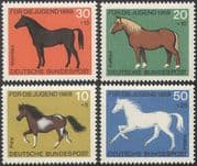 Germany 1969 Horses  / Pony/ Animals  /  Nature  /  Welfare Fund/ Transport/ Sport 4v set (n28065)
