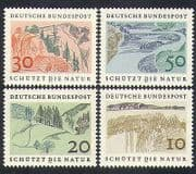 Germany 1969 Nature Protection  /  Environment  /  Trees  /  Lakes  /  Mountains 4v set (n36673)