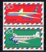 Germany 1969 Planes  /  Aviation  /  Transport 2v set (n29288)