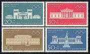 Germany 1970 Olympics  /  Buildings  /  Architecture  /  Palace  /  Statue 4v set (n29610)