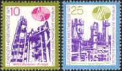 Germany 1971 Leipzig Fair/ Chemical Plant/ Reactor/ Business/ Industry 2v set (n44581)
