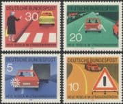 Germany 1971 Motoring/ Transport/ Road Safety/ Traffic Signs/ Cars 4v set (g10134)