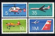 Germany 1972 Aviation/ Planes/ Helicopters/ Aircraft/ Transport/ Plane/ Helicopter 4v set (n27895)