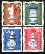 Germany 1972 Faience Ceramics/ Chess/ Sports/ Art/ Board Games 4v set (n28114)