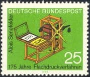 Germany 1972 Senefelder/ Lithographic Printing Press/ Books/ People 1v (n44325)