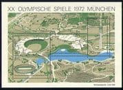 Germany 1972 Sports/ Olympic Games / TV/ Television Mast/ Stadium/ Olympics 4v m/s (n31038)