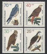 Germany 1973 Birds  /  Raptors  /  Welfare Fund  /  Kite  /  Osprey  /  Health 4v set (n34645)