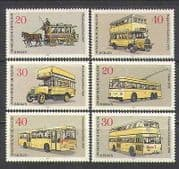 Germany 1973 Buses  /  Trams  /  Horses  /  Transport 6v set n26042