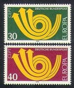 Germany 1973 Europa  /  CEPT  /  Communication  /  Posthorn  /  Animation 2v set (n35753)