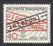 Germany 1973 Interpol  /  Police  /  Law Order  /  Radio Mast  /  Radio Waves 1v (n35412)