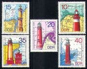 Germany 1974 Lighthouses  /  Maritime  /  Safety 5v set  n28778