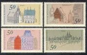Germany 1975 Buildings  /  Architecture  /  Tower  /  Town Hall  /  Heritage 4v set (n38990)