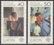Germany 1975 Europa/ Schlemmer/ Art/ Painting/ Artists/ Contemporary 2v set (n42094)