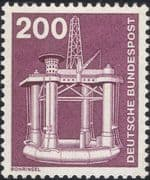 Germany 1975 Industry/ Technology/ Oil Well/ Drilling Platform/ Minerals 1v (n29148t)