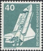 Germany 1975 Industry/ Technology/ Space Shuttle/ Rocket/ Laboratory/ Transport 1v (n29148d)