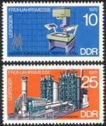 Germany 1975 Leipzig Fair/ Camera/ Cement Works/ Business/ Commerce/ Industry 2v set (n44577)