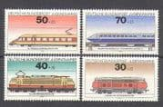 Germany 1975 Trains  /  Rail  /  Locomotives  /  Transport  /  Railways 4v set (n25257)